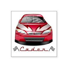 """Caden car2 Square Sticker 3"""" x 3"""""""