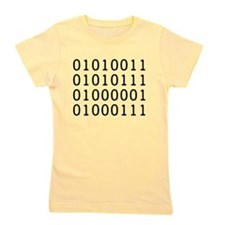 SWAG in Binary Code Girl's Tee