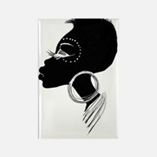 African Lady Rectangle Magnet