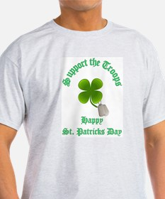 support the troops HAPPY SAIN T-Shirt