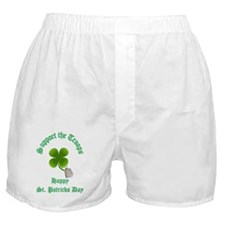 support the troops HAPPY SAIN Boxer Shorts