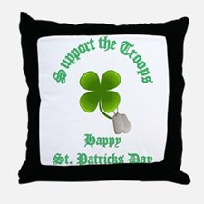 support the troops HAPPY SAIN Throw Pillow