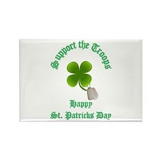 support the troops HAPPY SAIN Rectangle Magnet