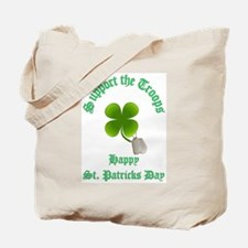 support the troops HAPPY SAIN Tote Bag