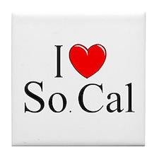 """""""I Love So. Cal"""" Tile Coaster"""