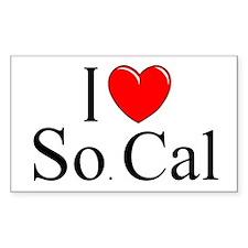"""I Love So. Cal"" Rectangle Decal"