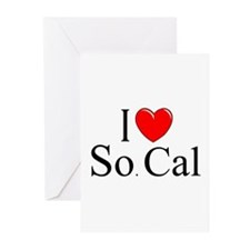 """""""I Love So. Cal"""" Greeting Cards (Pk of 10)"""