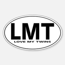 LMT - Love My Twins - Oval Decal