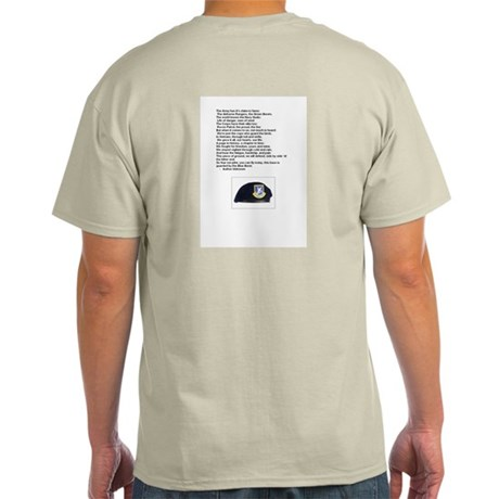 Security forces pride wear Ash Grey T-Shirt
