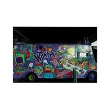 Wonka Truck New York City Rectangle Magnet