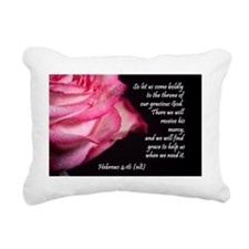 Hebrews 4 16 Rectangular Canvas Pillow