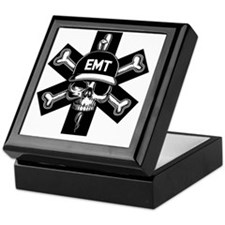 emt-skull-T Keepsake Box