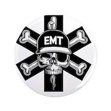 """emt-skull-T 3.5"""" Button"""