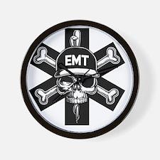 emt-skull-T Wall Clock