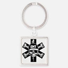 emt-skull-T Square Keychain