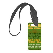 Wanted Good Woman Luggage Tag