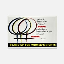 WOMENS RIGHTS Rectangle Magnet