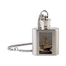 reid rectangle magnet Flask Necklace