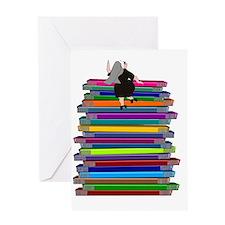 book stack NUN Greeting Card