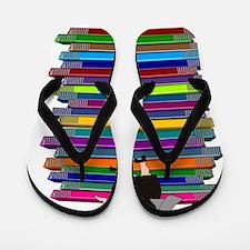 book stack NUN Flip Flops