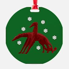 Borzoi Snowflakes Ornament
