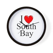 """""""I Love South Bay"""" Wall Clock"""