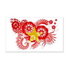 Vietnam textured flower Rectangle Car Magnet