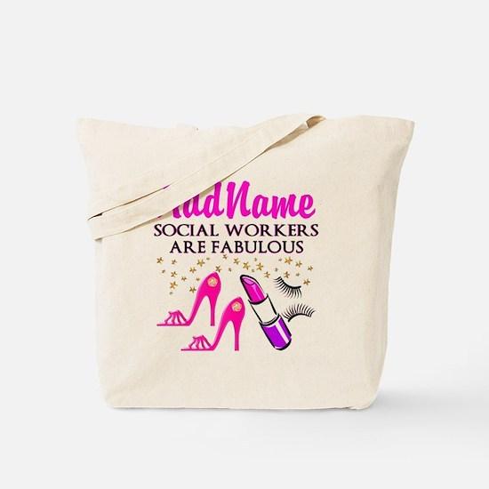 #1 SOCIAL WORKER Tote Bag