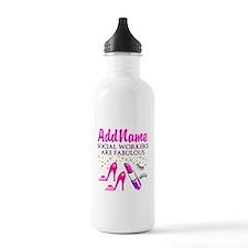 #1 SOCIAL WORKER Water Bottle