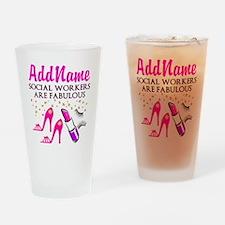 #1 SOCIAL WORKER Drinking Glass