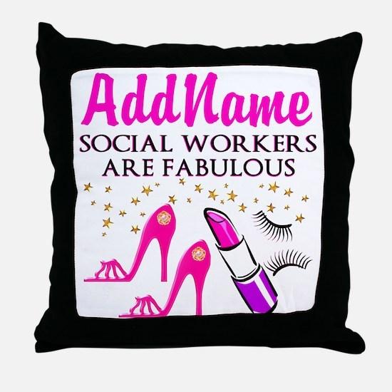 #1 SOCIAL WORKER Throw Pillow