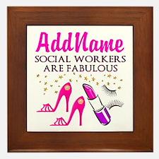 #1 SOCIAL WORKER Framed Tile