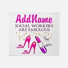 #1 SOCIAL WORKER Throw Blanket