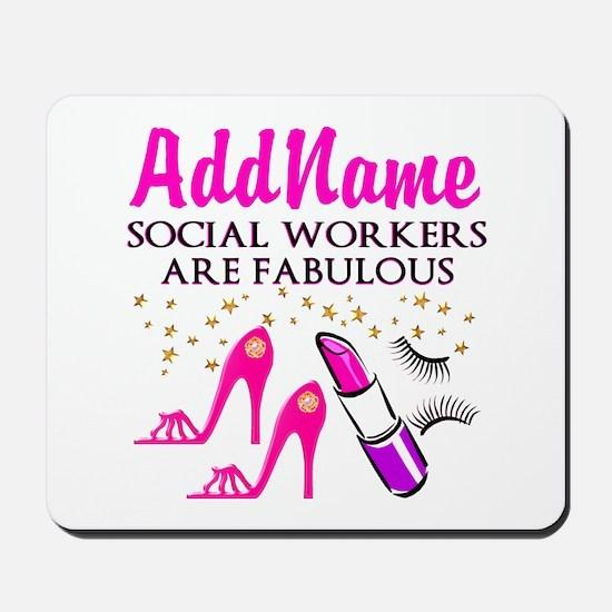 #1 SOCIAL WORKER Mousepad