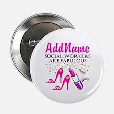 """#1 SOCIAL WORKER 2.25"""" Button"""