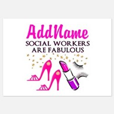 #1 SOCIAL WORKER Invitations