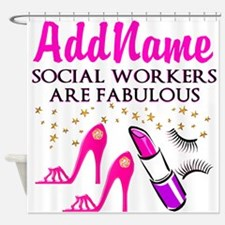 #1 SOCIAL WORKER Shower Curtain