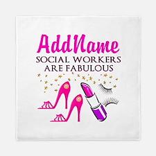 #1 SOCIAL WORKER Queen Duvet
