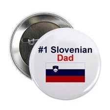 "#1 Slovenian Dad 2.25"" Button"