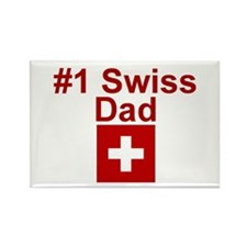 #1 Swiss Dad Rectangle Magnet