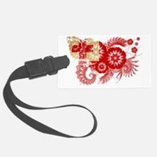 Tonga textured flower Luggage Tag