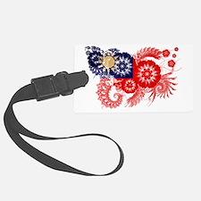 Taiwan textured flower Luggage Tag