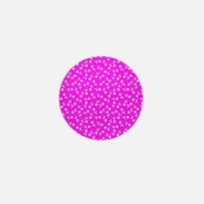 Pink Floral Sway Designer Mini Button