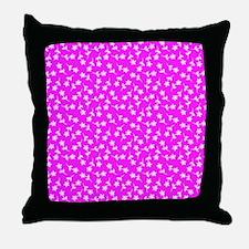 Pink Floral Sway Designer Throw Pillow