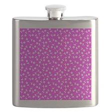 Pink Floral Sway Designer Flask