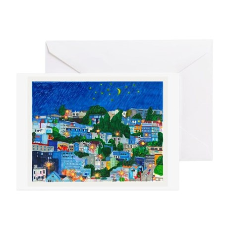 San Francisco Hills Greeting Cards (Pk of 20)