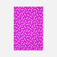 Pink Floral Sway Designer Rectangle Magnet