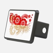 Singapore textured flower Hitch Cover
