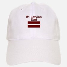 #1 Latvian Dad Baseball Baseball Cap