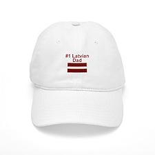 #1 Latvian Dad Baseball Cap